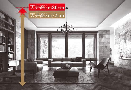 天井高2m72cm→2m80cm