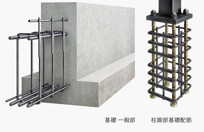 信頼性の高い基礎工法で建物を支えるイメージ画像